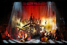 LES MISÉRABLES. Maltz Jupiter Theatre. Scenic design by Paul Tate dePoo III. Lighting by Paul Black. 2015