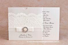 Diamonds and Pearls: Invitation   http://blacktieweddinginvitations.com.au/galleries/premium-wedding-invitations/diamonds-and-pearls