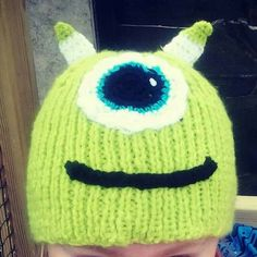 cd0d33acc278c Mike Wazowski from Monsters Inc. will get your head warm and dry. Knitted  Hat