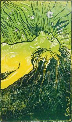 Maan povella. Kuvitus Katri Valan runoon