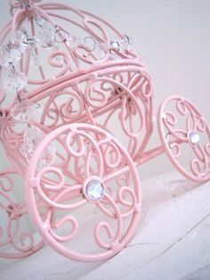 Cinderella Carriage N Crystal Baby Pink by ShabulousChandeliers, $51.00