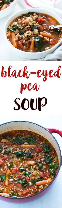 Black-Eyed Pea Soup with Sausage and Spinach : theblondcook