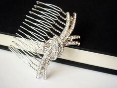 tie the knot bride hair comb $22.00
