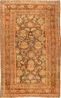 Late 19th Century Antique Sultanabad Persian Rugs 43053 Detail/Large View - By Nazmiyal