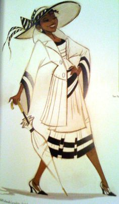 "Concept art of Tiana in daywear from Disney's ""Princess and the Frog"" (2009)."
