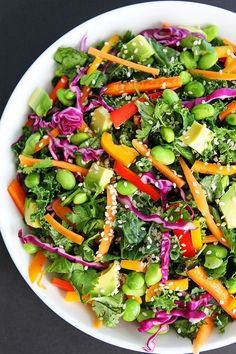 Asian Kale Salad | Twopeasandtheirpod | Bloglovin