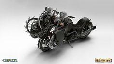 Esta moto ameaçadora deverá ser do protagonista do DLC, Hunter (Foto: VG247)
