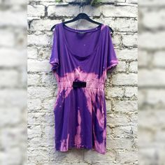 Purple Open Shoulder Jersey Tunic Tie Dye Dress Loose Fitting Casual to fit UK size 10 or US size 8 Festival Clothing Autumn Dresses Hippie by AbiDashery on Etsy