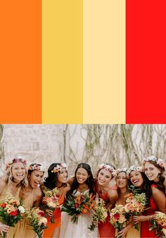 Looking for tips on styling mismatched bridesmaid dresses? Check out these color palettes to help you bring your vision together!    Image by Peyton Rainey Photography Boho Wedding, Wedding Blog, Summer Wedding, Wedding Styles, Wedding Ideas, Wedding Stuff, Mismatched Bridesmaid Dresses, Bridesmaid Dress Colors, Bridesmaids