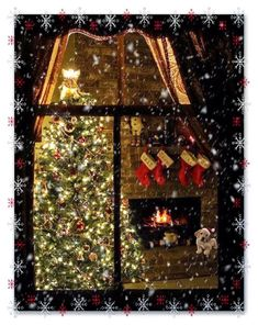 Beautiful Christmas Scenes, Winter Christmas Scenes, Christmas Scenery, Noel Christmas, Christmas Music, Christmas Greetings, Christmas Lights, Christmas Decorations, Xmas