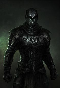 knight in dark armor