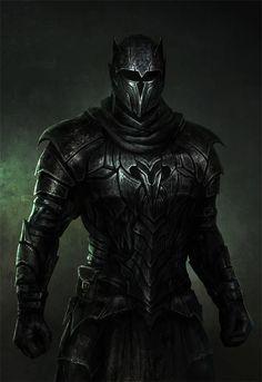 knight in dark armor