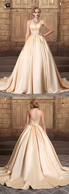 Gorgeous satin sweetheart neckline long backless ball gown #fashion #promdress #party #weddings #dress #dresses #homedecor #homecomingdresses #prom #partydresses #clothing #clothes #womens #girldress #ballgown #infographic #weddingdress #shoes