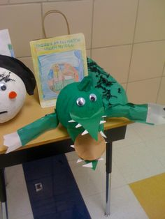 Very fun Book Buddy idea!  Students worked with their 4th grade buddies to find the story elements in a favorite picture book.  They wrote these elements, made a book cover and decorated a pumpkin as the book character.