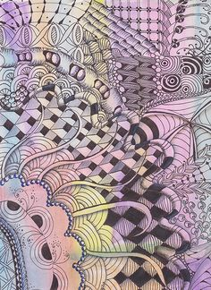 colour zentangle 001