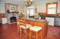 2732 Luvan Blvd. Love the fireplace in the kitchen.