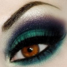 Black doesn't have to be the only color you use for smoky eyes.
