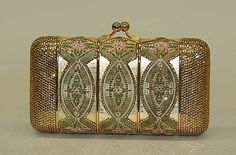 1978 Judith Leiber metal, glass,and silk evening bag. Gift of Judith Leiber, via MMA.