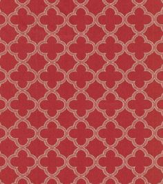 A decorative geometric design defined by simplicity and symmetry. Add a contemporary look to your room using this durable fabric for your projects to complement your home décor theme.  Content: 67% Ra