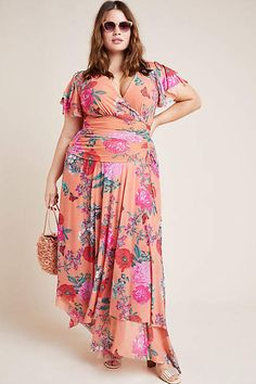 Simone Floral Midi Dress by Maeve in Assorted Size: Xs, Women's Dresses at Anthropologie Plus Size Cocktail Dresses, Plus Size Dresses, Plus Size Outfits, Nice Dresses, Maxi Dresses, Boho Midi Dress, Fashion Tips For Women, Fashion Ideas, Spring Dresses