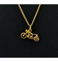 """Sejt motorcykel """"guld"""" vedhæng - 919317"""