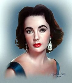Elizabeth Taylor   by Mohamad Magdy - Advanced Photoshop