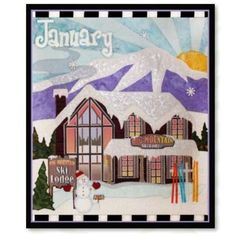 January Holiday House Pattern