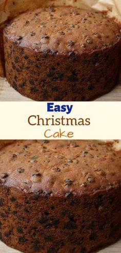 More Than 71 Easy Christmas Cake Allrecipes ! Christmas Deserts, Holiday Desserts, Holiday Baking, Just Desserts, Christmas Cakes, Recipe For Christmas Cake, Xmas Cakes, Christmas Goodies, Cake Recipes