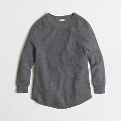 J Crew Factory textured curved-hem sweater
