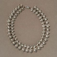 Necklace | Margot de Taxco Sterling.  Sterling silver.  ca. 1950s