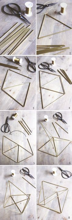 DiY : himmeli straw craft