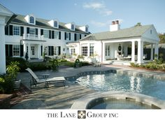 Residential Architects - The Lane Group, Inc. Barn Pool, Outside Living, Classic House, Pool Houses, Dream Rooms, Residential Architecture, Outdoor Rooms, Traditional House, My Dream Home