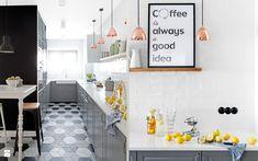 Biały szary czarny - zdjęcie od DOMagała Design - Kuchnia - Styl Skandynawski…