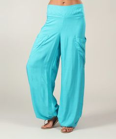 Another great find on #zulily! Turquoise Pocket Harem Pants - Women #zulilyfinds