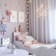 Teenage girl bedroom ideas for small rooms diy little girl bedroom best little girl rooms ideas Baby Bedroom, Girls Bedroom, Girl Nursery, Trendy Bedroom, Modern Bedroom, 4 Year Old Girl Bedroom, Room Girls, Bedroom Colors, Bedroom Decor