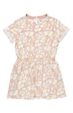 Stella McCartney Kids 'Elena' Drop Waist Organic Cotton Dress (Toddler Girls, Little Girls & Big Girls)