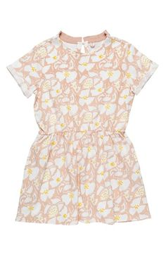 Stella McCartney Kids 'Elena' Drop Waist Organic Cotton Dress (Toddler Girls, Little Girls & Big Girls)