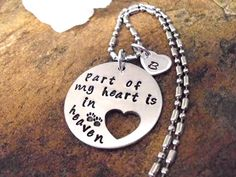 Pet Memorial Jewelry Dog or Cat Memorial Hand by CharmAccents