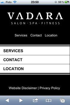 Sleek and Sharp Mobile Website Design, for the Salon Spa Seeker! ;)    ----BTW, Please Visit:  http://artcaffeine.imobileappsys.com