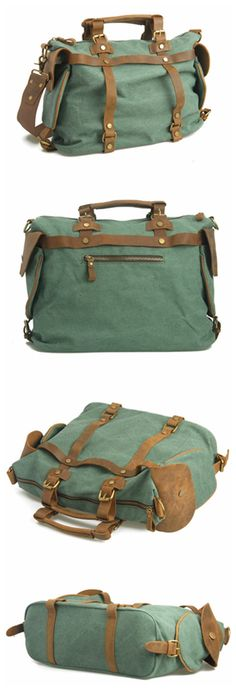 Canvas Leather Bag Briefcase Bag Messenger Bag Shoulder Bag Laptop Bag