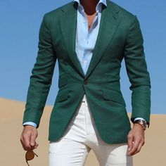 "ABSOLUTE BESPOKE on Instagram: ""Lets go green @absolutebespoke @tomaslasoargos #green #white #green #unstructured #jacket #style all by #absolutebespoke absolutebespoke.com"""