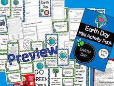 Earth Day Mini Activity Pack by PollyPuddleduck - Teaching Resources - Tes Tes Resources, Teaching Resources, Key Stage 3, Work Quotes, Eyfs, Earth Day, Task Cards, Lesson Plans, Packing