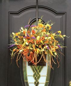 Fall Door Basket Fall Door Hanger Fall by SouthernCharmWreaths