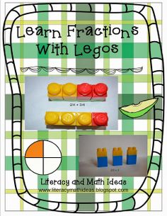 Learn fractions with Legos. Lego building blocks are great math discussion starters. They not only help students conceptualize what it means to add or multiply fractions, they are also great small group discussion starters to deepen math understanding. Lego Math, Math Classroom, Fun Math, Classroom Ideas, Math Worksheets, Math Resources, Math Activities, Math Games, Second Grade Math