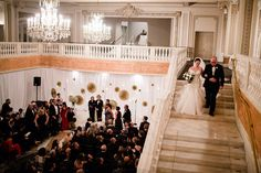NMWA Special Events, photography by The Happy Couple. Bridal Entrance from Mezzanine to Great Hall.