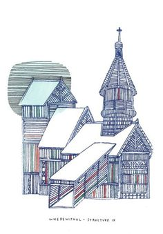 Building Drawings by Nigel Peake Unique Drawings, Detailed Drawings, Architectural Trees, Sectional Perspective, Study Architecture, Architecture Illustrations, Building Drawing, Drawing Sketches, Sketching
