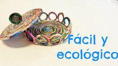 Como hacer cestas con hojas de revista // FACIL+ECOLOGICO