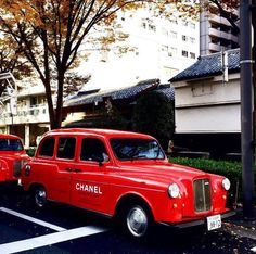CHANEL taxi in Kyoto.