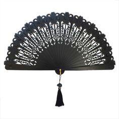 Black Lace Spanish Fan