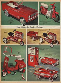 Pedal Cars  Tractors in J.C. Penney's Christmas Catalog, 1966